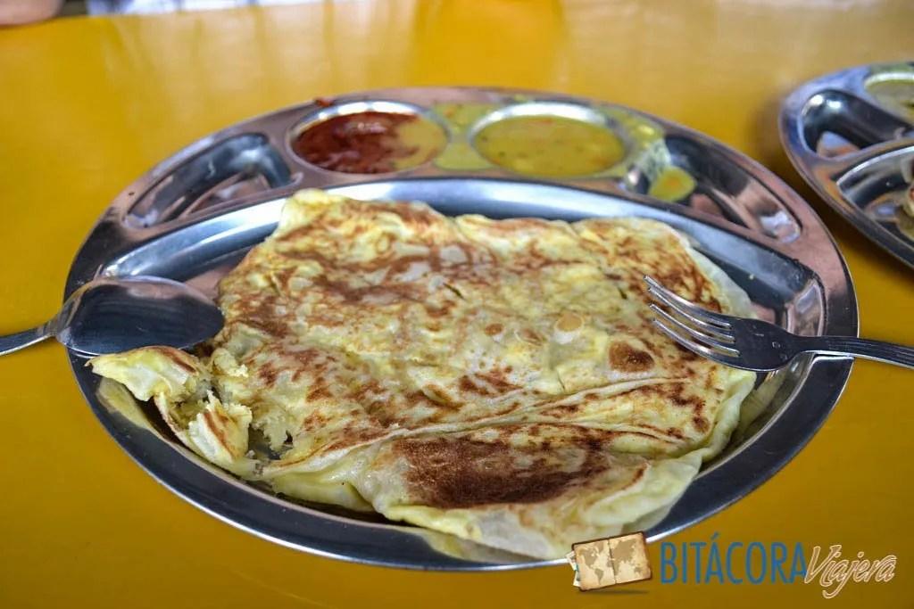Roti Telur con curry
