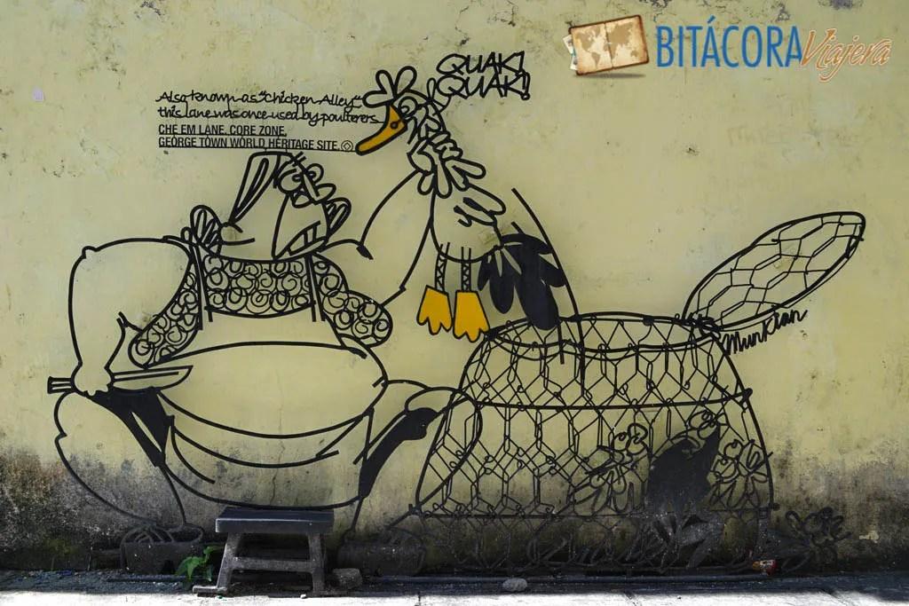 Arte Callejero Penang Esculturas de Hierro (2)