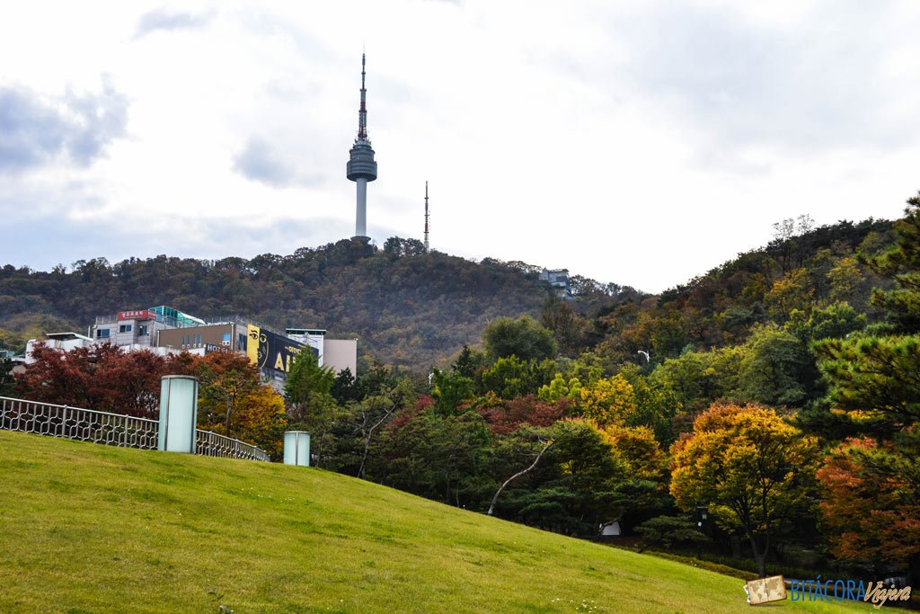 otoño en seul corea del sur