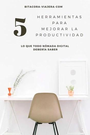 5 herramientas para mejorar la productividad. Tips útiles para que tu vida como nómada digital sea mucho más fácil. #bitacoraviajera #nomadadigital #vivirdeviaje #tips #productividad
