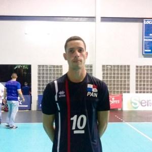 José González, capitán de la Selección Sub-23 de Voleibol de Panamá.
