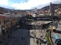 Vista de la plaza en el centro de la ciudad.