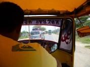 La moto-taxi.
