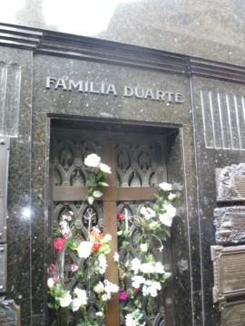 Boveda donde se encuentra Evita Perón