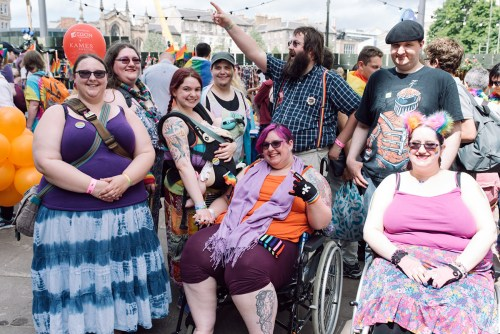 Illustrative photo of Edinburgh Pride attendees