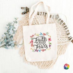 Faith > Fear Bible Study Totebag