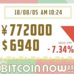 【18/08/05】ビットコインの価格予想!毎日更新中!テクニカル分析×ファンダ分析で上げ下げの理由をずばり解明!