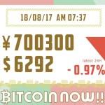 【18/08/17】今日のビットコインの価格予想!毎日更新中!上がる?下がる?ファンダ情報×チャートテクニカルでW分析!