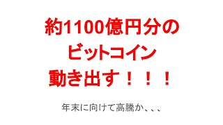 ビットコイン1100億円が動き出す!?リップルなど年末に向けて高騰か!?【仮想通貨】