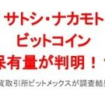 仮想通貨ビットコイン創始者サトシ・ナカモトの保有量は!?