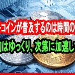 ビットコインが普及するのは時間の問題です。最初はゆっくり、次第に加速して…