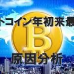 【暗号通貨しらべてみました】ビットコイン年初来の最安値の原因と回復は?