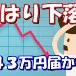 仮想通貨 ビットコイン下落!43万円は届かず 一旦50万円まで戻すかも?