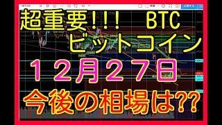 ビットコイン リップル BTC XRP 12月27日 相場予想 考察