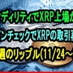 フィディリティでXRP上場か?コインチェックでXRPの取引再開|今週のリップル11月24日〜30日【仮想通貨】