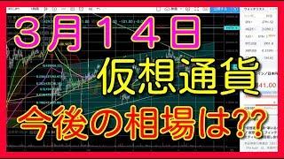 仮想通貨 ビットコイン リップル イーサリアム エイダ バイナンス ライトコイン BTC XRP ETH ADA BNB LTC 3月14日 相場予想 考察