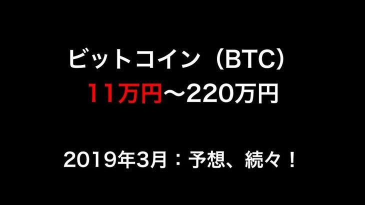 【仮想通貨】ビットコイン(BTC)11万円~220万円!最新予想、続々!暴落しても高騰しても稼げる。(2019最前線)