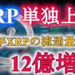 XRP単独上昇!! そしてまもなくアルトコインの時代到来か!?