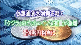 仮想通貨氷河期を経て「クジラ」のビットコイン保有量が急増、計4兆円相当に