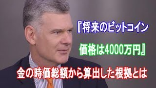 『将来のビットコイン価格は4000万円』投資会社CEOが金の時価総額から算出した根拠とは【仮想通貨】