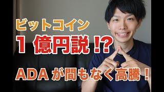 【仮想通貨】ビットコイン1億円説!?ADAが間もなく高騰!【暗号通貨】