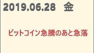FXトレード例2019.06.28(金)ユーロ円 ドル円 ユーロドル 豪円 チャート15分足