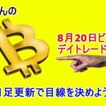 8月20日 仮想通貨ビットコインデイトレードテクニカル考察 「BTC暗号通貨」