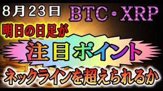 【仮想通貨】ビットコイン・リップル BTC・XRP明日にはダブルボトム形成するかどうかの決着か!?