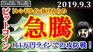 【ビットコイン急騰】111万円ラインでの攻防戦が今後を左右する!