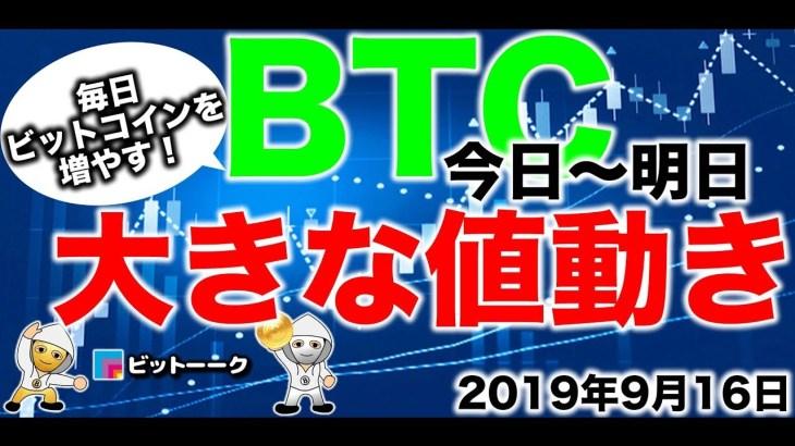 【2019年9月16日】今日明日にもBTCは三角保ち合いをブレイクする! BTC、ビットコイン、BCH、ビットコインキャッシュ、仮想通貨、暗号資産