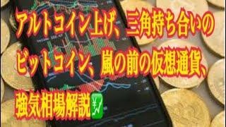 【仮想通貨】リップル最新情報‼️アルトコイン上げ、三角持ち合いのビットコイン、嵐の前の仮想通貨、強気相場解説💹
