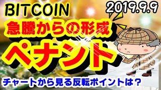 【仮想通貨】ビットコイン急騰からのペナント!どう動く!