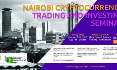 Nairobi Cryptocurrency Trading and Investing Seminar