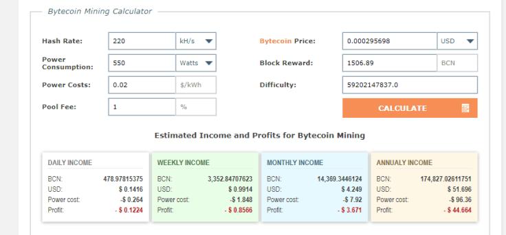 how to mine bytecoin