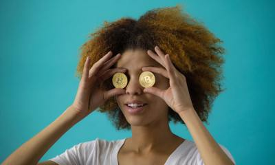 Women with Bitcoin