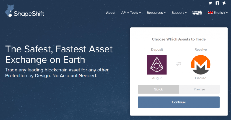 Buy bitcoin with ShapeShift