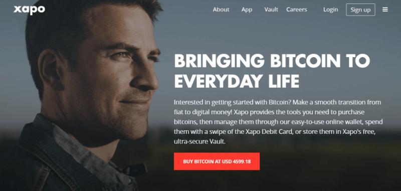 Exchange bitcoin with Xapo