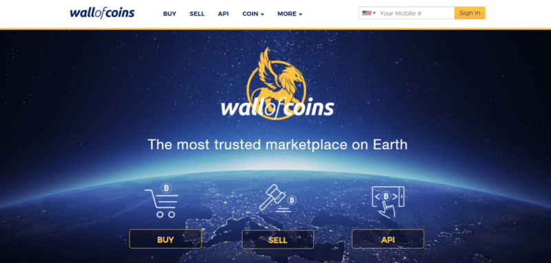 Wall of Coins exchange