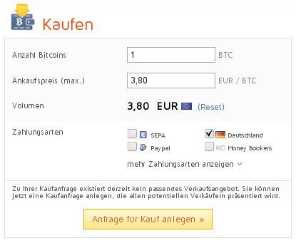 Bitcoin.de eigene Kaufanfrage