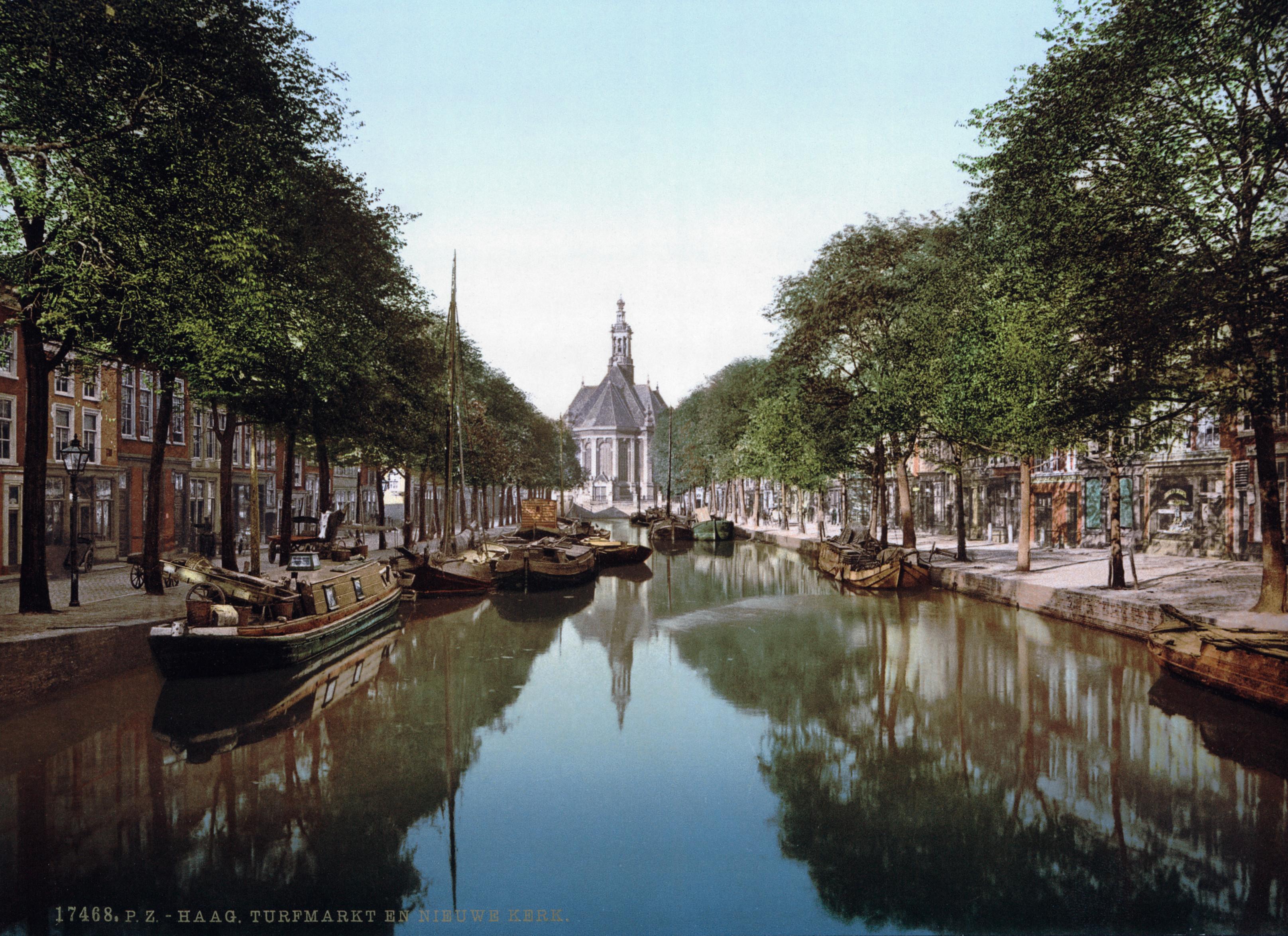 Den_Haag_-_Turfmarkt_en_Nieuwe_Kerk_1900