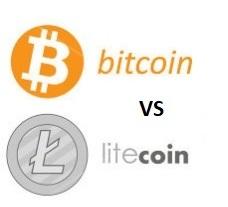 Bitcoin vs. litecoin hintakaavio