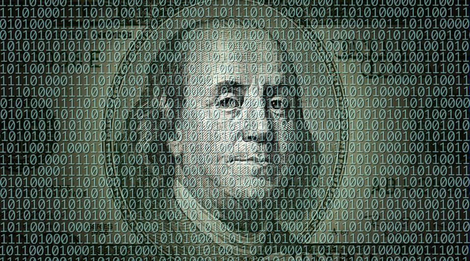 digital dollar, dollar, bitcoin, libra, cryptocurrency, image