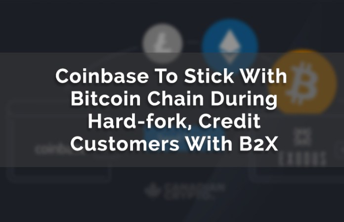 Coinbase uses btc over b2x review bitcoin hard fork segwit2x chain understanding bitcoin segwit2x ccuart Images