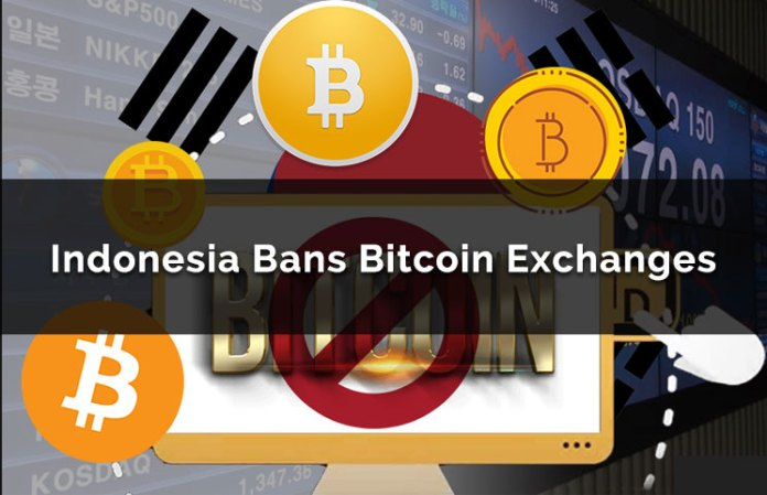 Indonesia Bans Bitcoin Exchanges