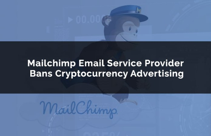 mailchimp email service provider bans cryptocurrency advertising