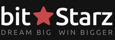 BitStarz bold black white and red banner