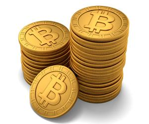 Bitcoin pile of coins