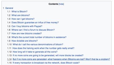 Wikipedia over Bitcoin