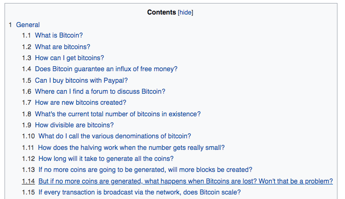Wikipedia over Bitcoin