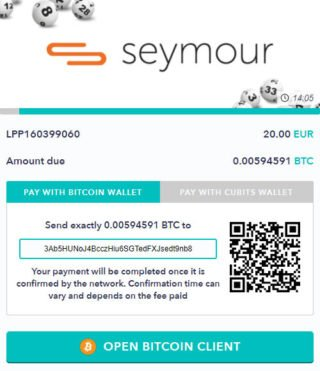 Send your bitcoin payment